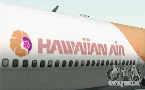Lookheed L-1011 Hawaiian pour GTA San Andreas vue arrière