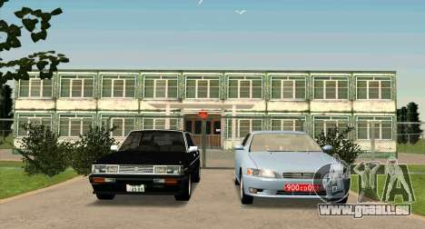 TOYOTA Mark II Wagon (GX70) für GTA San Andreas Rückansicht