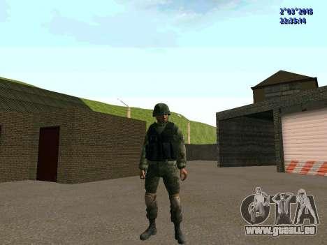 Guerrier bataillon à l'Est pour GTA San Andreas