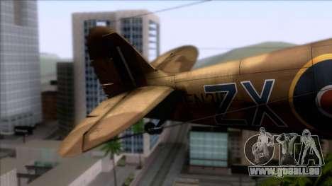 Stanislaw Skalski Supermarine Spitfire MK IXC für GTA San Andreas zurück linke Ansicht