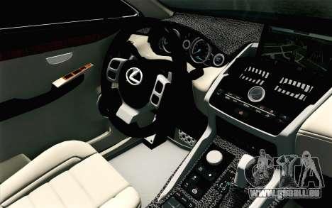 Lexus NX 200T v4 pour GTA San Andreas vue de droite