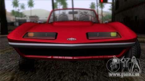 GTA 5 Invetero Coquette Classic TL IVF für GTA San Andreas Rückansicht