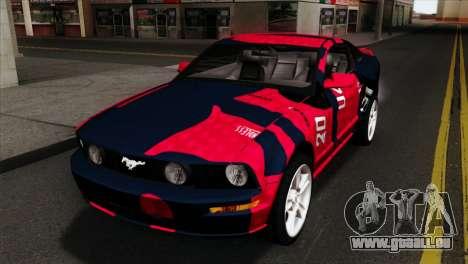 Ford Mustang GT PJ Wheels 1 pour GTA San Andreas vue arrière