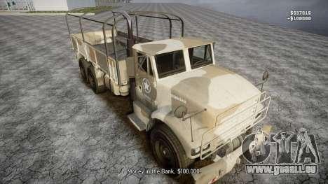 GTA 5 Barracks v2 pour GTA 4 roues