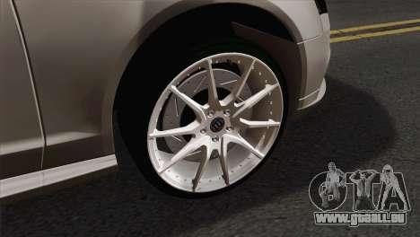 Audi S4 Sedan 2010 für GTA San Andreas zurück linke Ansicht