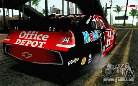 NASCAR Chevrolet Impala 2012 Short Track pour GTA San Andreas laissé vue