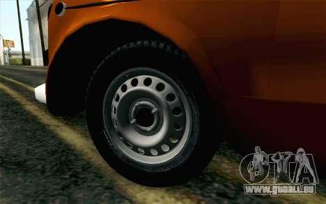 Fiat 600 pour GTA San Andreas sur la vue arrière gauche