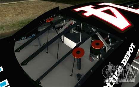 NASCAR Chevrolet Impala 2012 Short Track für GTA San Andreas Rückansicht