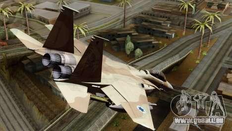 F-15E Strike Eagle Israeli Air Force pour GTA San Andreas laissé vue