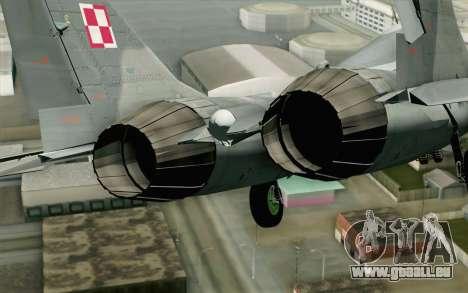 MIG-29 Polish Air Force pour GTA San Andreas vue arrière