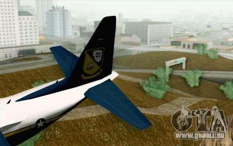 C-130H Hercules Blue Angels für GTA San Andreas zurück linke Ansicht