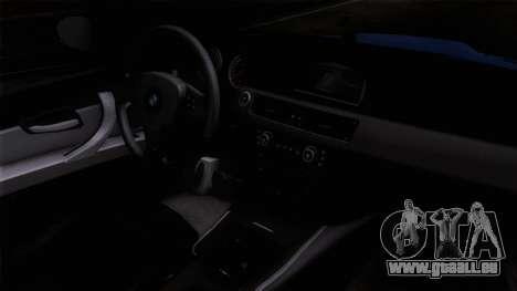 BMW M3 E92 pour GTA San Andreas vue de droite