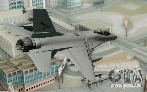 F-16 Fighting Falcon RNoAF PJ pour GTA San Andreas laissé vue