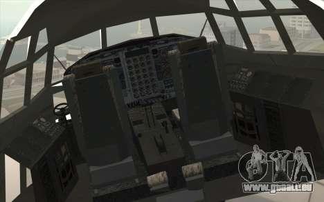 Lockheed C-130 Hercules Indonesian Air Force pour GTA San Andreas vue arrière
