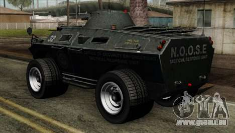 GTA 4 TBoGT Swatvan v2 pour GTA San Andreas laissé vue