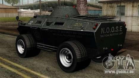 GTA 4 TBoGT Swatvan v2 für GTA San Andreas linke Ansicht