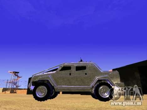 HVY Aufständischen Pickup für GTA San Andreas Rückansicht