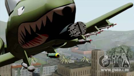 A-10 Warthog Shark Attack pour GTA San Andreas vue arrière