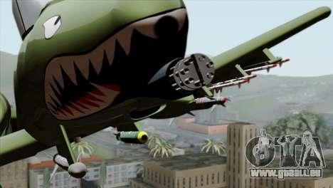 A-10 Warthog Shark Attack für GTA San Andreas Rückansicht