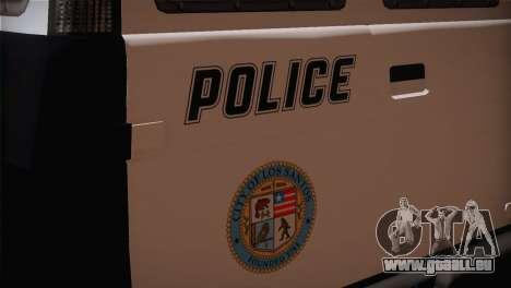 GTA 5 Police Transporter pour GTA San Andreas vue arrière