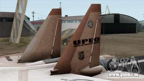 SU-37 UPEO für GTA San Andreas zurück linke Ansicht