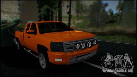 Chevrolet Silverado 1500 HD Stock pour GTA San Andreas salon