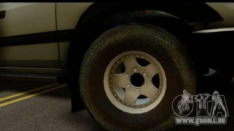 Toyota Land Cruiser 80 v1.0 pour GTA San Andreas sur la vue arrière gauche