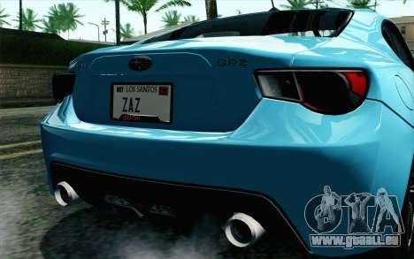 Subaru BRZ 2012 für GTA San Andreas rechten Ansicht