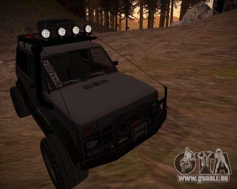 VAZ 2131 Niva 5D OffRoad pour GTA San Andreas vue de dessous