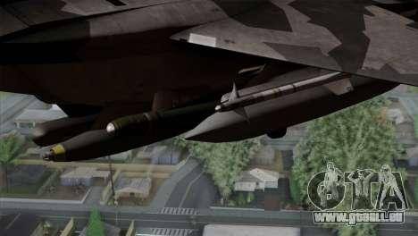 F-15E Yellow Squadron pour GTA San Andreas vue de droite