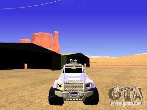 HVY Aufständischen Pickup für GTA San Andreas Innenansicht