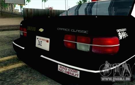 Chevy Caprice SAHP SAPD Highway Patrol v1 pour GTA San Andreas vue arrière
