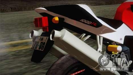 Honda RVT1000R (RC51) IVF pour GTA San Andreas vue arrière