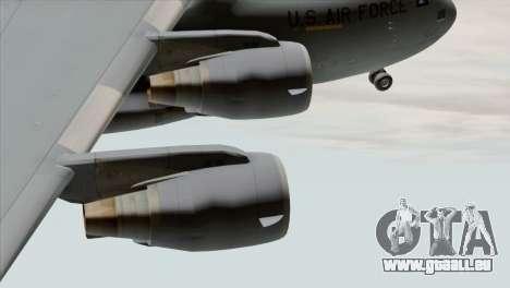 C-17A Globemaster III USAF March pour GTA San Andreas vue de droite