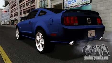 Ford Mustang GT PJ Wheels 1 pour GTA San Andreas laissé vue