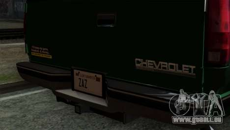 Chevrolet Suburban GMT400 1998 für GTA San Andreas Rückansicht