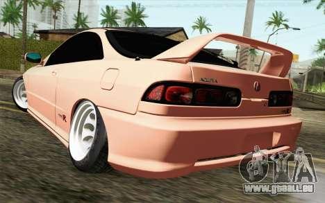 Acura Integra Type R 2001 JDM pour GTA San Andreas laissé vue