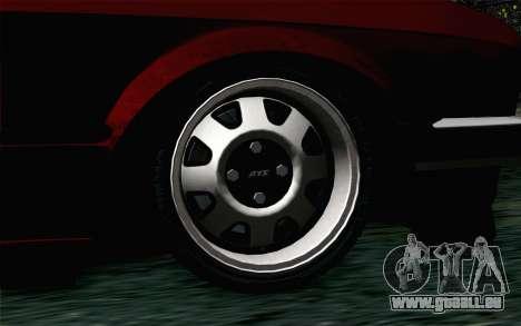 BMW E30 pour GTA San Andreas sur la vue arrière gauche