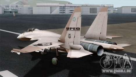 SU-37 UPEO für GTA San Andreas linke Ansicht