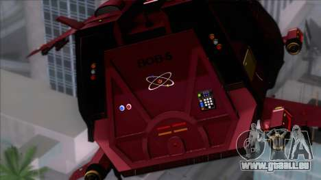 Shuttle v1 (no wheels) pour GTA San Andreas vue arrière