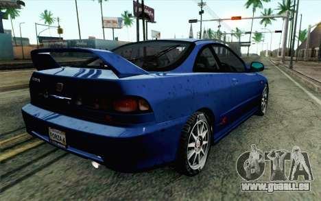 Honda Integra Type R 2000 Stock für GTA San Andreas linke Ansicht