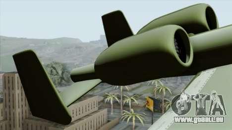 A-10 Warthog Shark Attack pour GTA San Andreas sur la vue arrière gauche