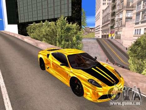 Ferrari F430 pour GTA San Andreas laissé vue