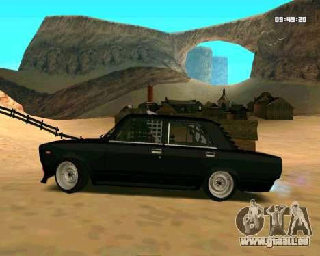 VAZ 2107 CRAMPES pour GTA San Andreas laissé vue
