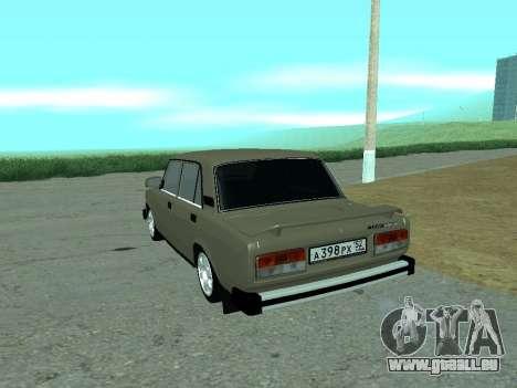 VAZ 2105 Lada für GTA San Andreas zurück linke Ansicht