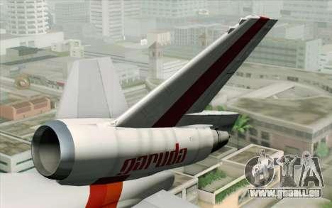 DC-10-30 Garuda Indonesia Sulawesi für GTA San Andreas zurück linke Ansicht
