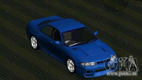 Nissan Skyline R33 4door outech pour GTA San Andreas vue arrière
