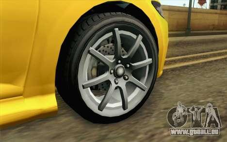 GTA V Dinka Blista IVF pour GTA San Andreas sur la vue arrière gauche