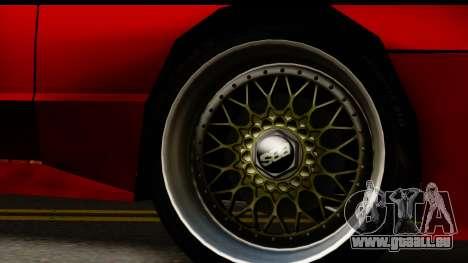 Elegy V1 pour GTA San Andreas vue arrière