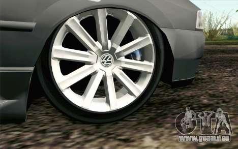 Volkswagen Golf GL pour GTA San Andreas sur la vue arrière gauche